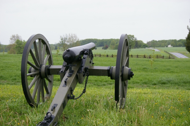Cannon, facing the Peach Orchard